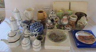 Various ceramics inc Sylvac, Christopher Stuart and Ringtons etc (2 boxes)