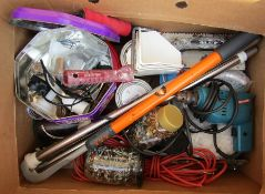 Box of assorted tools and DIY accessories