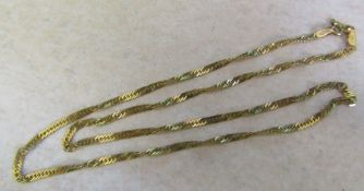 9ct gold necklace weight 3.1 g L 40 cm