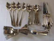 Set of silver plated cutlery