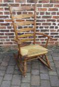 Rush seated rocking chair
