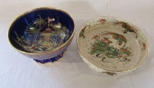 W & R Carlton ware Persian pattern bowl D 23 cm H 13 cm & Phoenix ware bowl D 26.5 cm H 6.5 cm