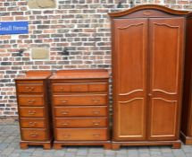 John E Coyle Ltd wardrobe, tall chest of drawers and vanity set of drawers