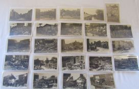 Lincolnshire interest - collection of 24 Louth flood postcards (19 Benton cards, 5 others)