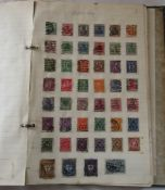 Vintage stamp album containing GB and world stamps inc penny reds