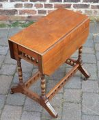 Victorian aesthetic influence drop leaf table top 60cm by 62cm
