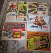 Selection of 6 vintage war film posters - Breakout, Sergeant Ryker, When hell broke loose, The