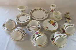 Royal Standard and Royal Ascot part tea services, Royal Albert Haworth cup and saucer etc