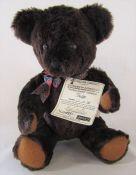 Dean's rag book co limited edition bear 'Fudge' 12/60 L 32 cm