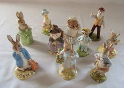 Selection of Beswick Beatrix Potter figurines from the 1990s - Peter and the red pocket handkerchief