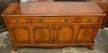 Regency style sideboard with canted corners & bracket feet W 152cm D 45cm Ht 78cm