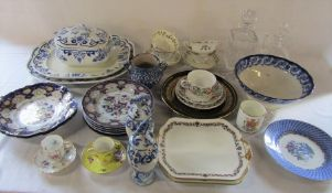 Various ceramics inc Dresden, Spode and Shelley soup bowls (2 boxes)