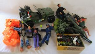 Selection of Action Man figurines and accessories