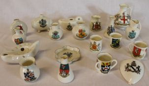 Selection of crested china including Louth, various factories including Goss