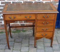Edwardian ladies writing desk with leather skiver top W 95cm D 48cm Ht 81cm
