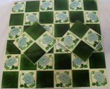 Set of 11 tube lined tiles and selection of Art Nouveau period and later tiles