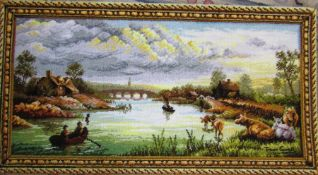 Picture rug wall hanging 132 cm x 69 cm