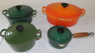 4 pieces Le Creuset oven to tableware