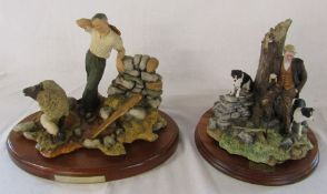 Border Fine Arts 'Flash and Lightning' James Herriot limited edition figurine 558/1250 H 27 cm (