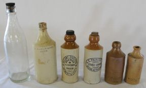 Selection of local bottles including Richardson & Low of Alford veterinary bottles, Soulby & Sons