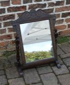 19th century carved oak dressing table mirror