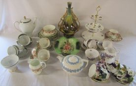 Selection of various part tea services inc Colclough and Sutherland & other ceramics inc Wedgwood