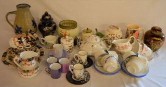 Various ceramics including Carltonware Rouge Royale ginger jar, part tea services etc
