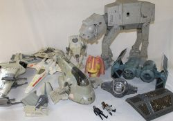 Selection of Star Wars vehicles / accessories (some Kenner) including At-At walker