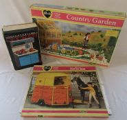 Boxed Sindy horse box and country garden & a boxed Katie cooker