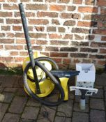 Karcher WD 2.200 vacuum cleaner (incomplete) and a Karcher window vac