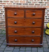 Victorian mahogany chest of drawers H 114 cm L 105 cm D 51 cm