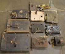 10 antique mortice locks