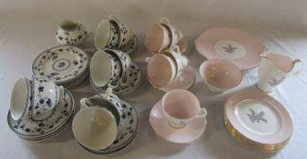 Royal Doulton 'Yorktown' and Royal Albert 'Sugar Candy' part tea services