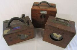 3 pigeon racing clocks - Benzing, Belgica and Linell