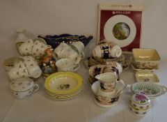 Various ceramics including part tea services etc