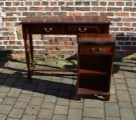 Mahogany side table 109 cm x 35 cm & a Regency style small bookcase