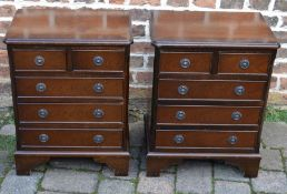 Pair of Georgian style bedside cabinets