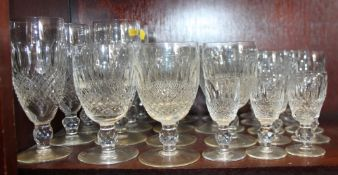 "A Waterford crystal ""Colleen"" pattern part table service of drinking glasses"