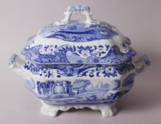 "A Spode ""Italian"" pattern two-handled tureen and cover, 13"" wide"