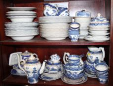 "A Booths ""Real Old Willow"" pattern part combination service and other blue and white china"