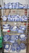 "A Copeland Spode ""Italian"" pattern combination service, including bowls, teapots, teacups, a"