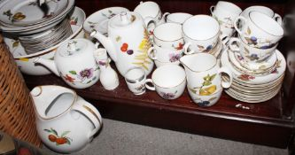 "A quantity of Royal Worcester tableware, including ""Evesham"", ""Wild Harvest"" and ""Astley"" patterns"