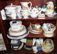 "A quantity of china, including two Wedgwood ""Hathaway Rose"" pattern tureens, assorted plates, a"