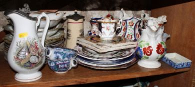 A selection of mostly 19th century ceramics and pottery, various