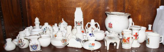 A collection of crested china, including seven Goss items, fifty approx