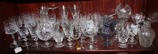 An assortment of drinking glasses
