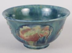 "A Moorcroft ""Claremont"" pattern bowl (restored), 6"" dia"