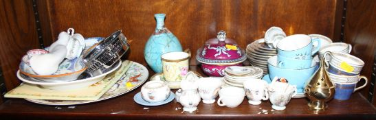 A number of part dinner sets by Midwinter, a Royal Doulton blue and gilt decorated part coffee set,