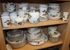 "A Royal Worcester ""Evesham"" pattern oven to tableware combination service, including mugs, cereal"