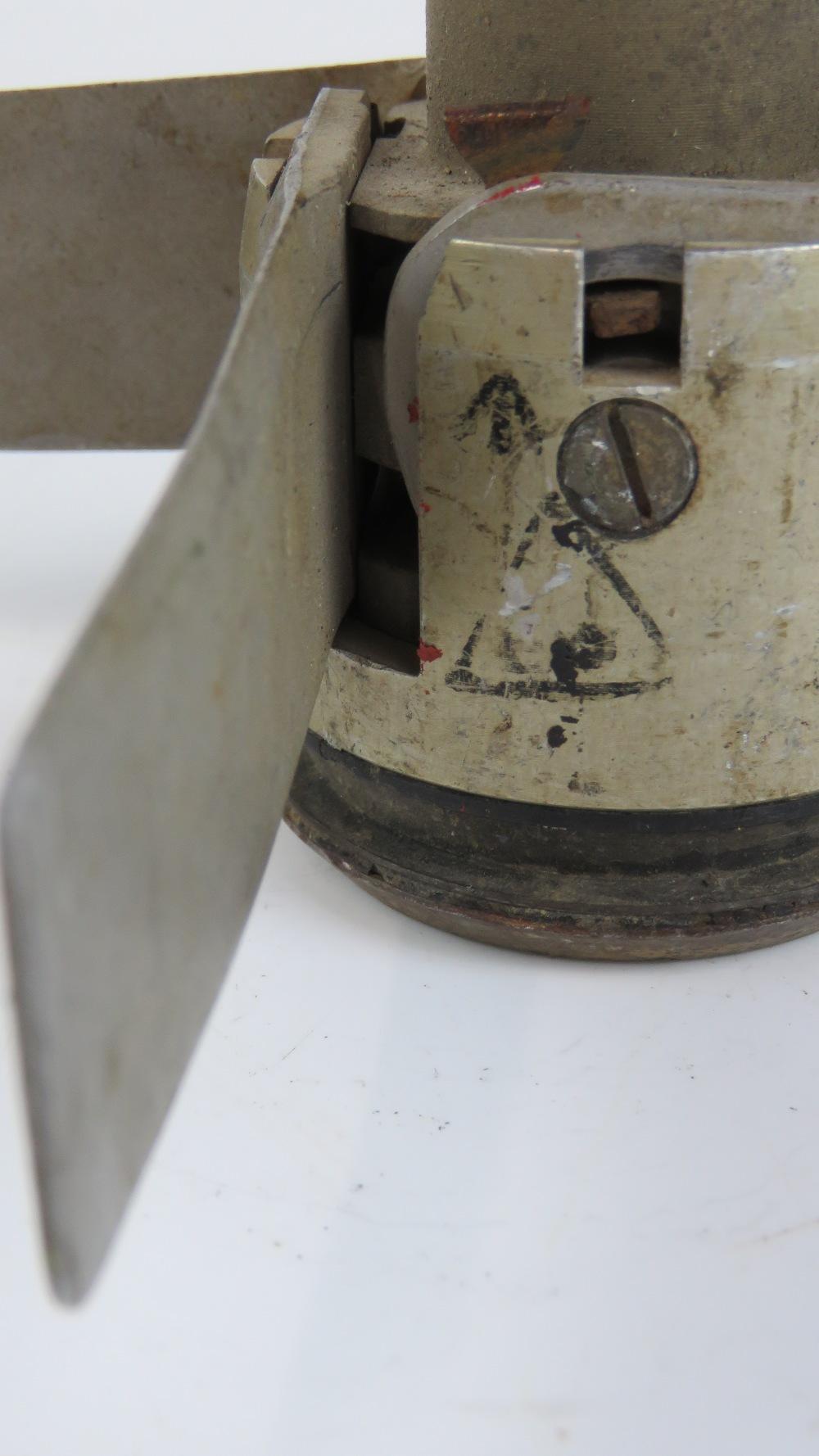Lot 53 - A reproduction UK 2.75'' SNEB rocket wooden warhead. Inert.